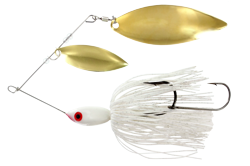 Big Game Spinner Bait 3/4 oz. White Brass