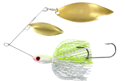 Big Game Spinner Bait 1 oz. Chart Shad Brass