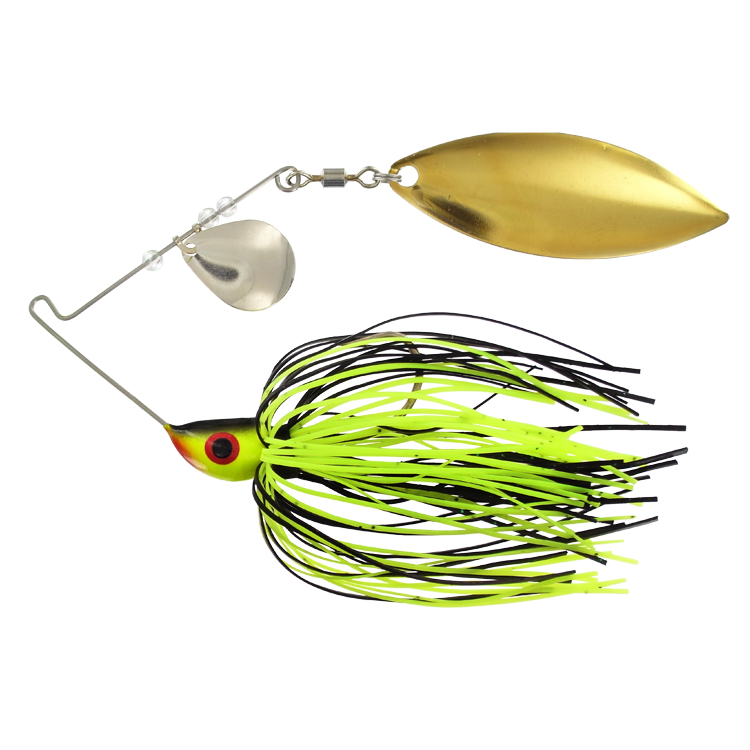 Bitty Bite Spinner Bait 1/8 oz. Black Chartreuse