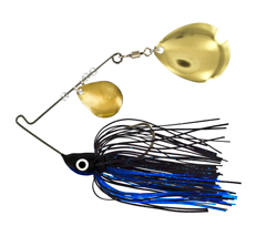 Bitty Bite Spinner Bait 1/8 oz. Black Blue