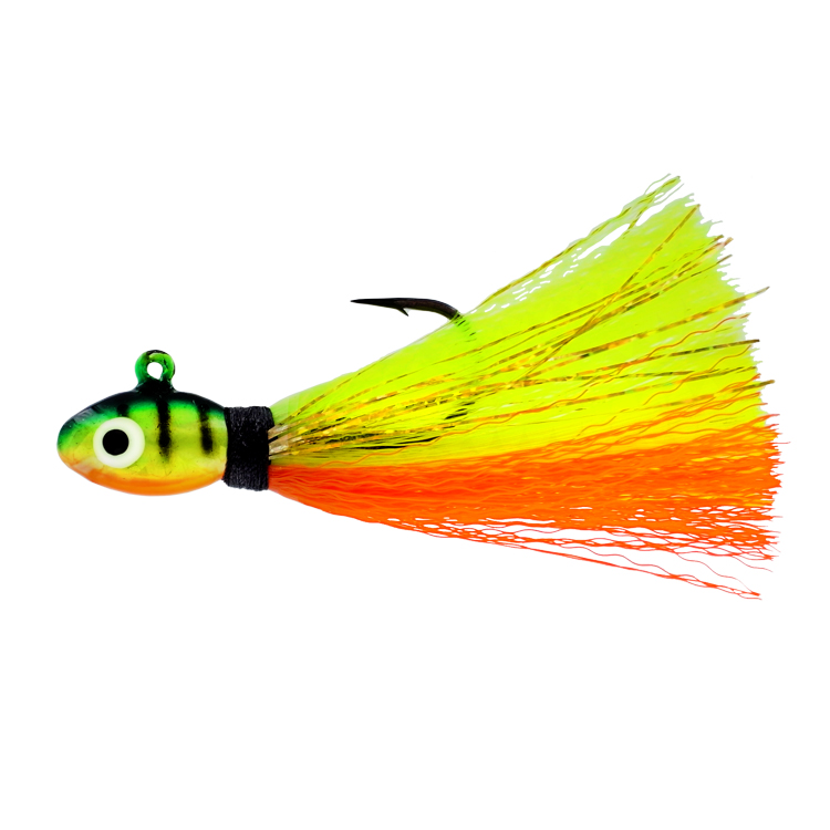 Deluxe Pompano Jig - 1/2 oz. - Fire Tiger - 2 per Pack