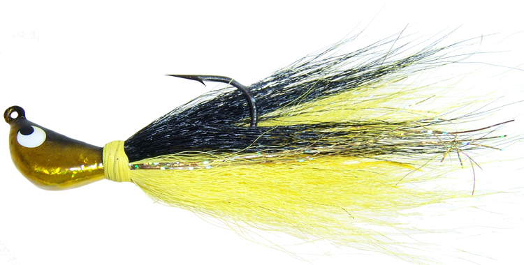 Prism Image Buck Tail Jig - 1.5 oz. - Gold Shad