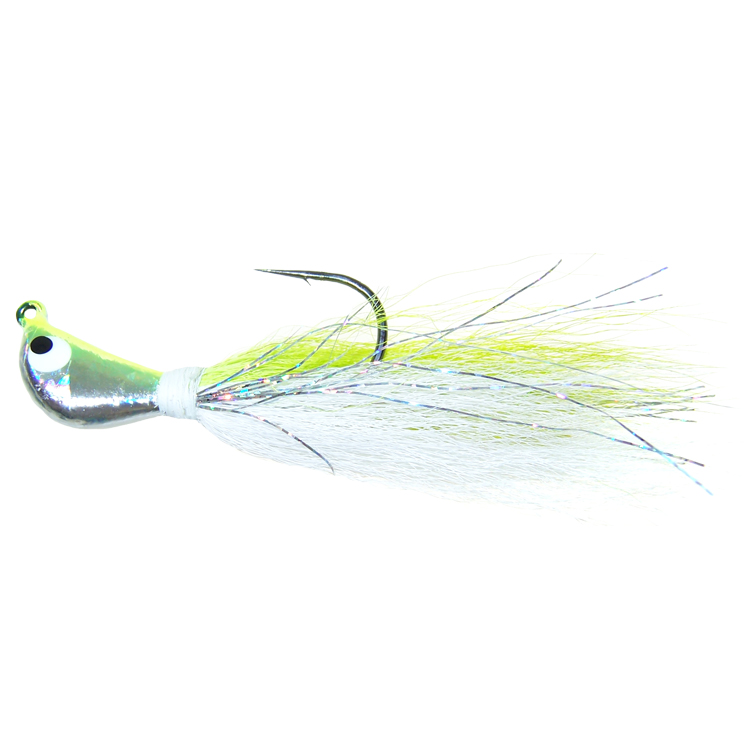 Prism Image Bucktail Jig - 3/8 Oz. - Chartreuse Shad