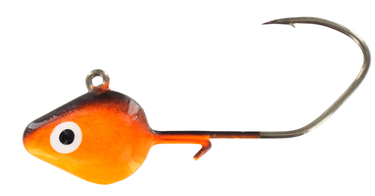 Minnow Keep Jig Head - 1/4 Oz. - Black & Orange - 5/Pack