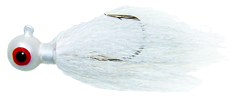 Natural Bucktail Jig - 3/8 oz - White - 2 per Pack