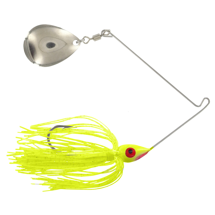 Promo Spinnerbait - 3/8 Oz. - Chartreuse - #4 Blade - 6 pack