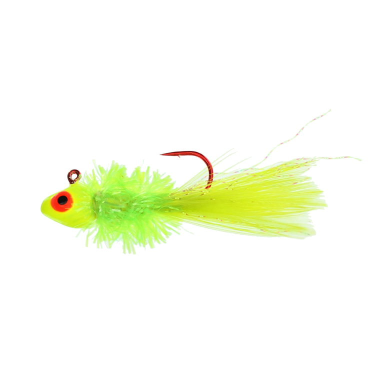 Crystal Fry Jig - 1/16 oz - Chartreuse - 2 per Pack