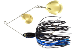 Pro Select Minnow Spinner Bait - 1/8 oz. - Black & Blue