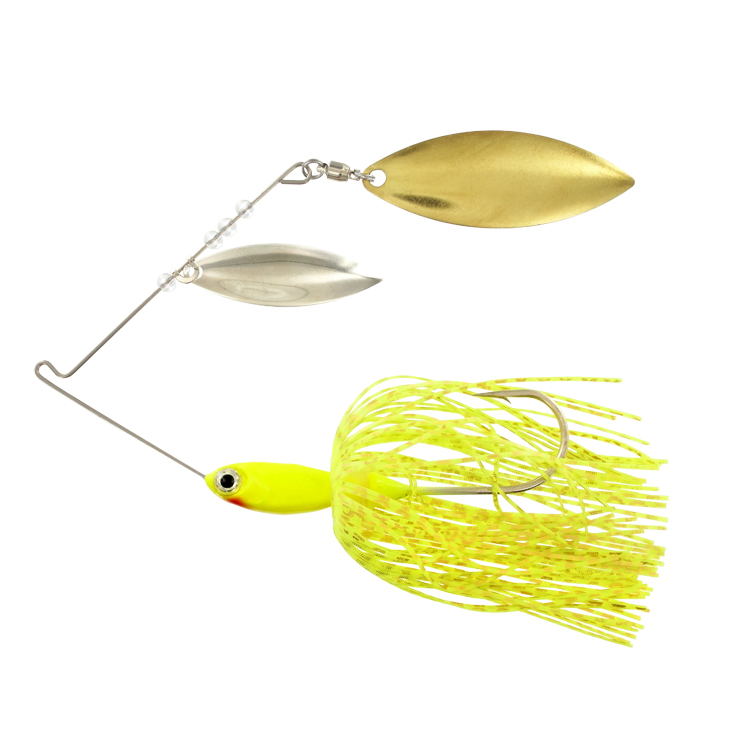 Pro Select Minnow Spinner Bait - 3/8 oz. - Chartreuse